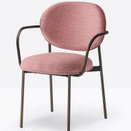 Blume armchair by Sebastian Herkner for Pedrali in pink