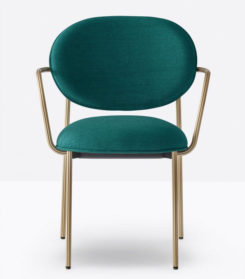 Кресло Blume от Себастьяна Херкнера для Pedrali в зеленом цвете