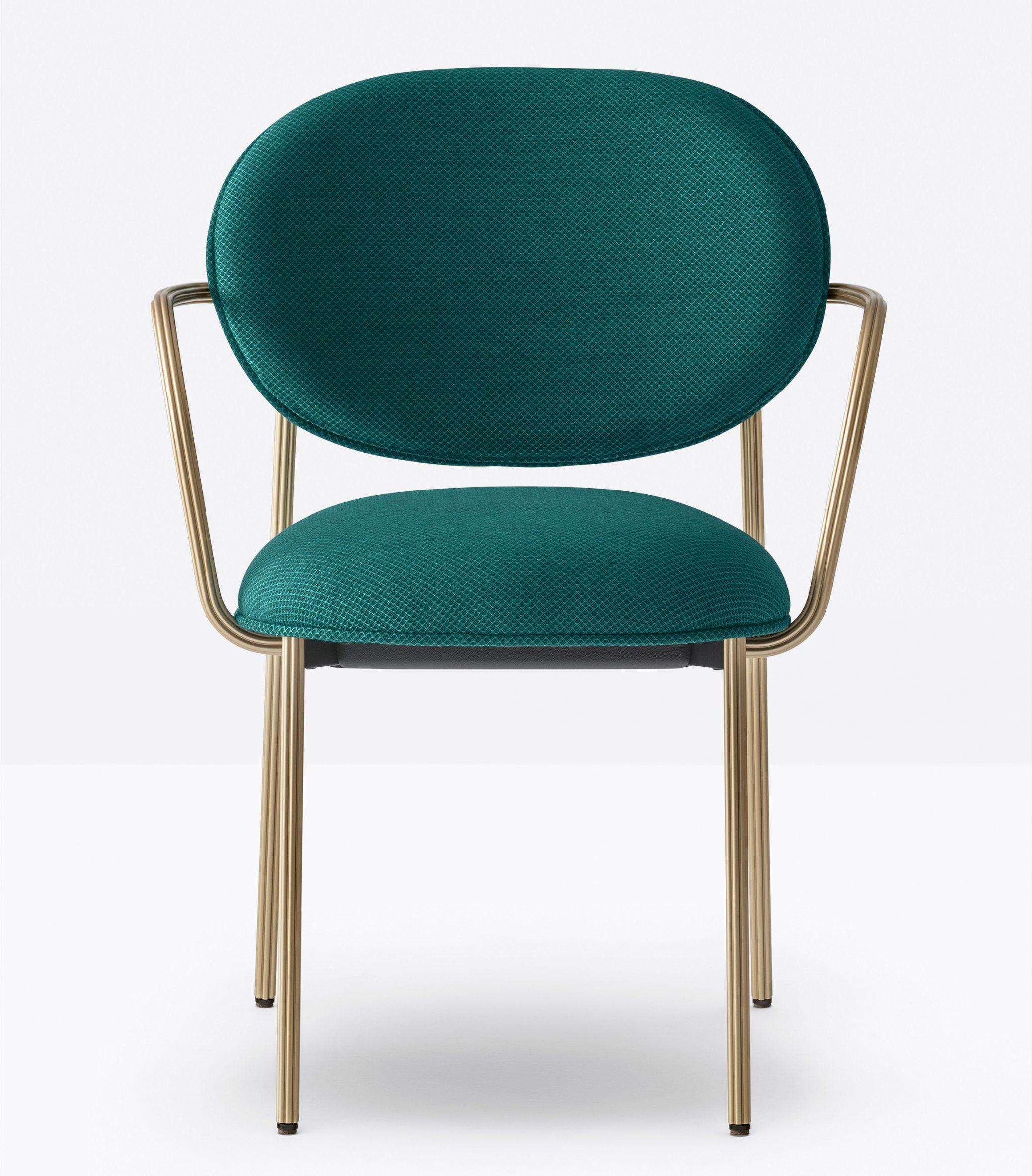 Blume armchair by Sebastian Herkner for Pedrali in green