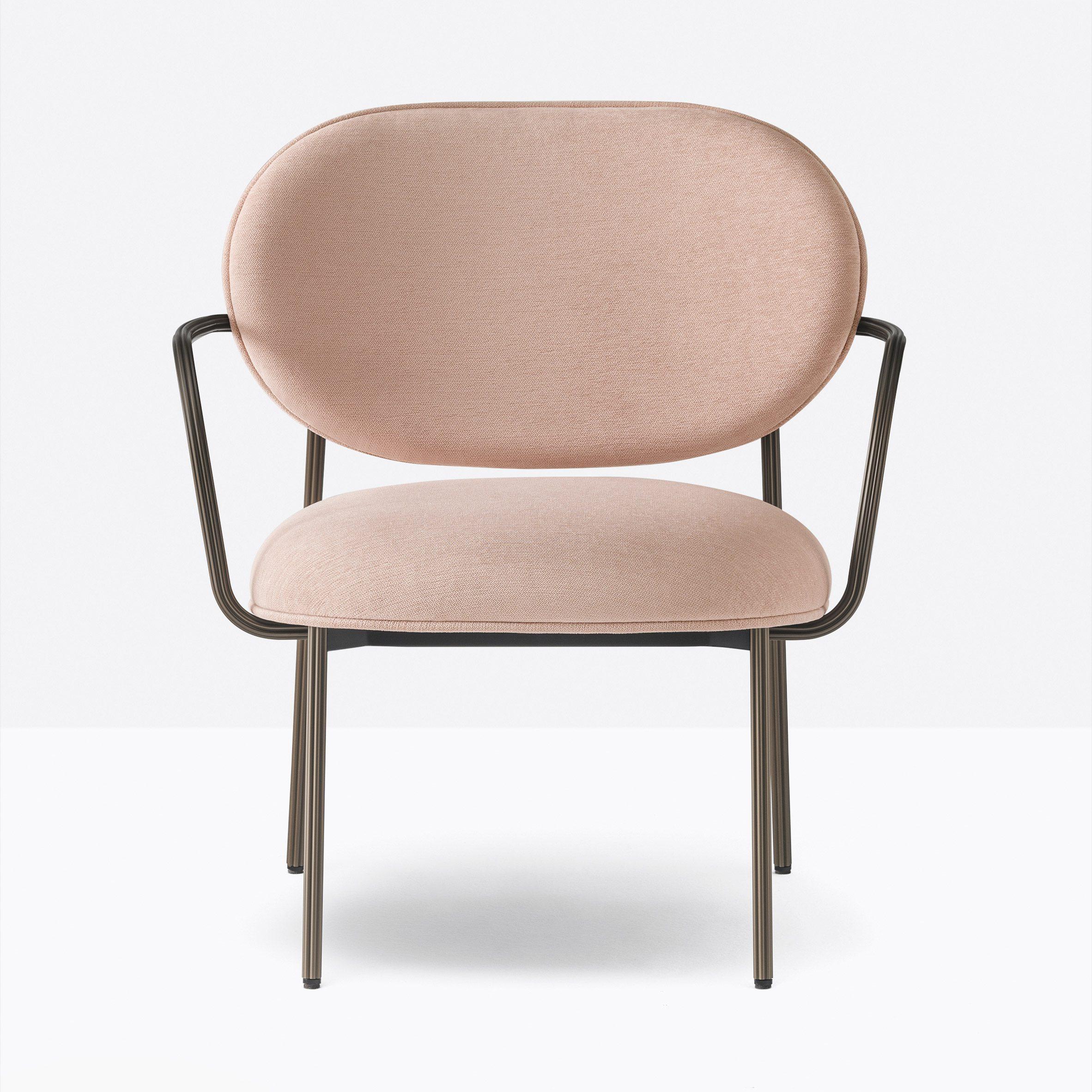 Blume lounge armchair by Sebastian Herkner for Pedrali in pink