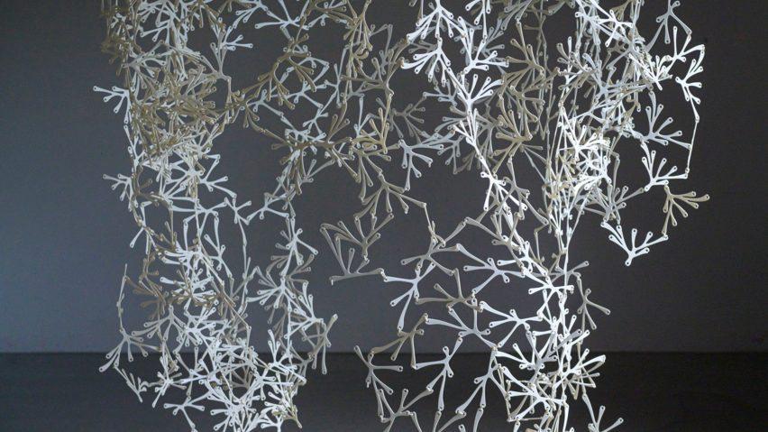 Floral-shaped bioplastic room divider