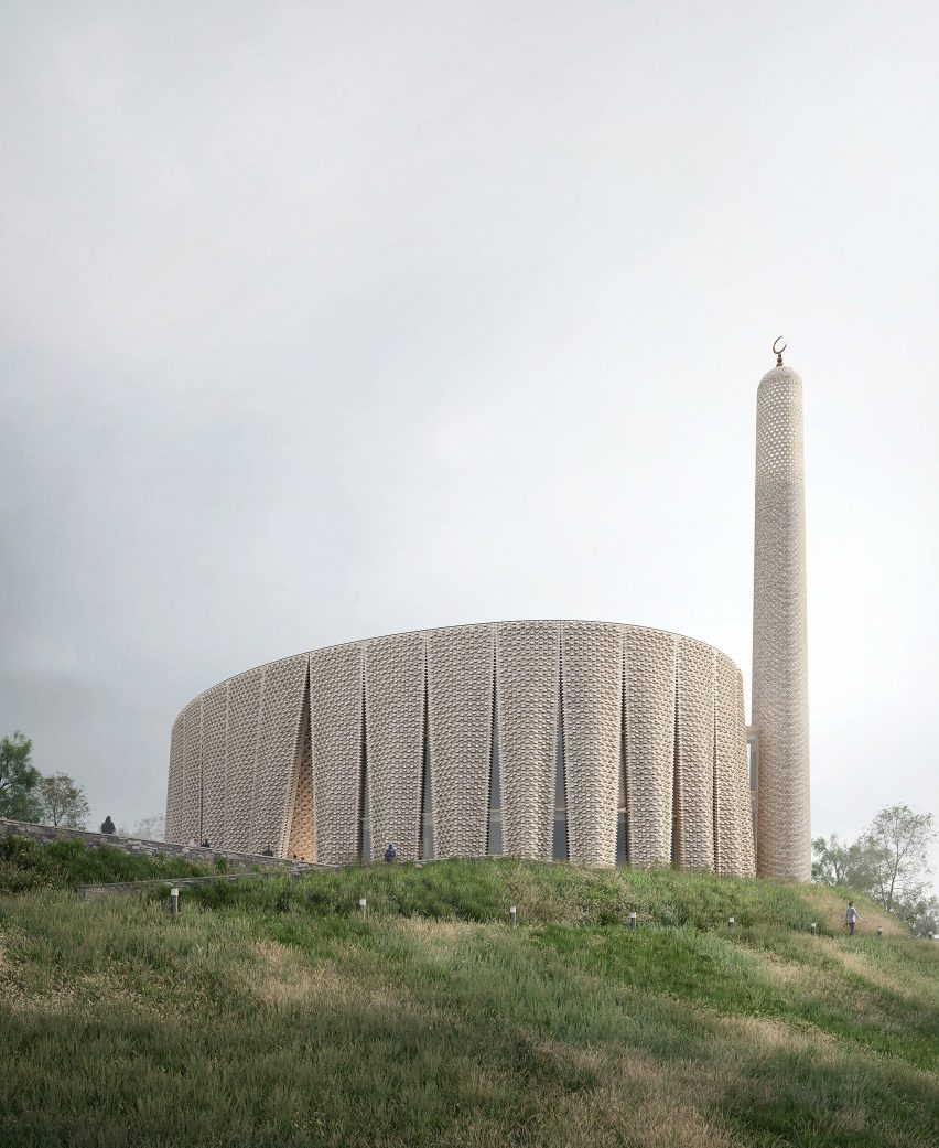 A render of the proposed Brick Veil mosque
