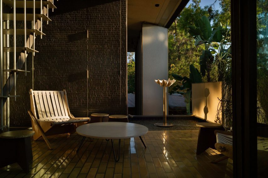 Outdoor furniture and artworks