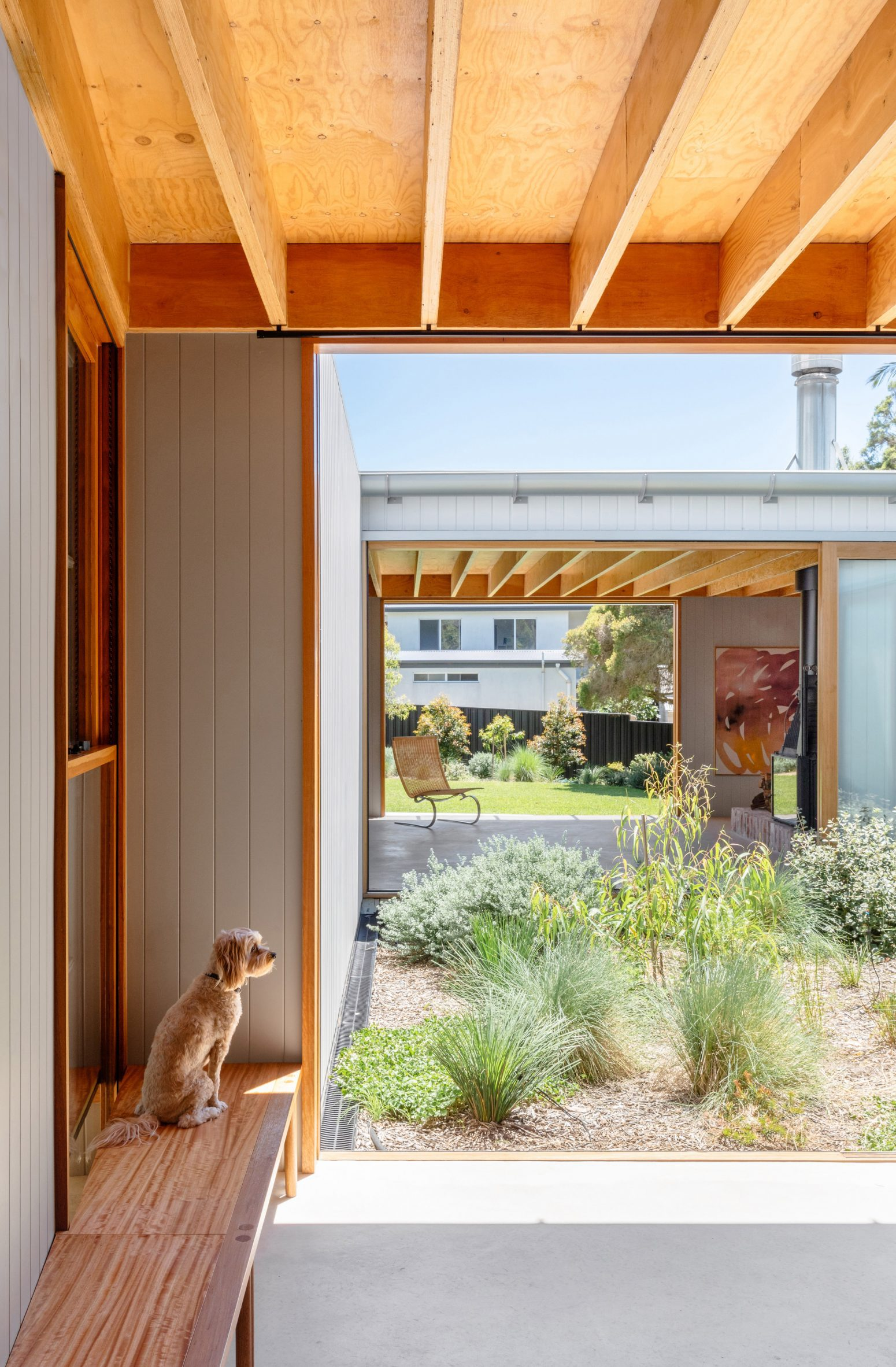 Tribe Studio Architects added an inner courtyard to the house