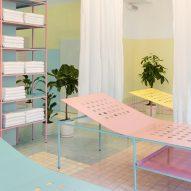 Bureau uses pastel shades to create dreamlike interior for Geneva float spa