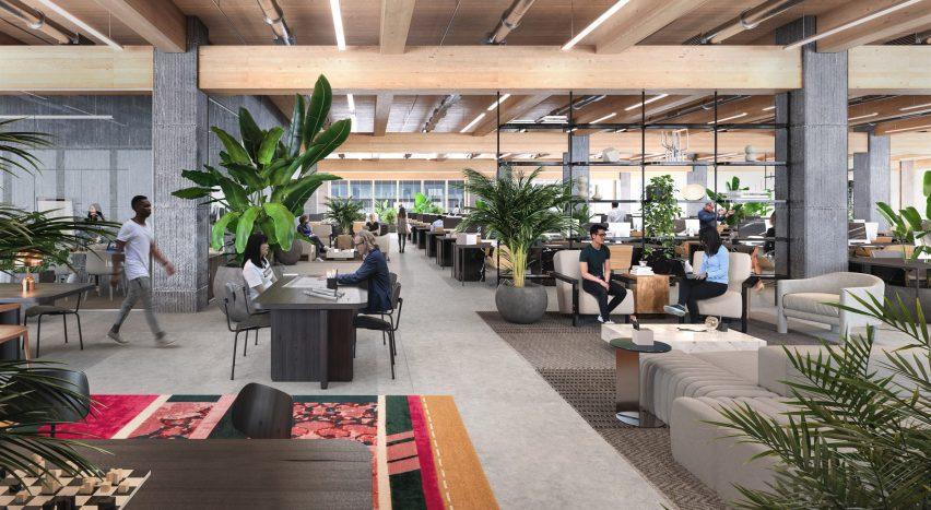 Flexible office space inside Burrard Exchange