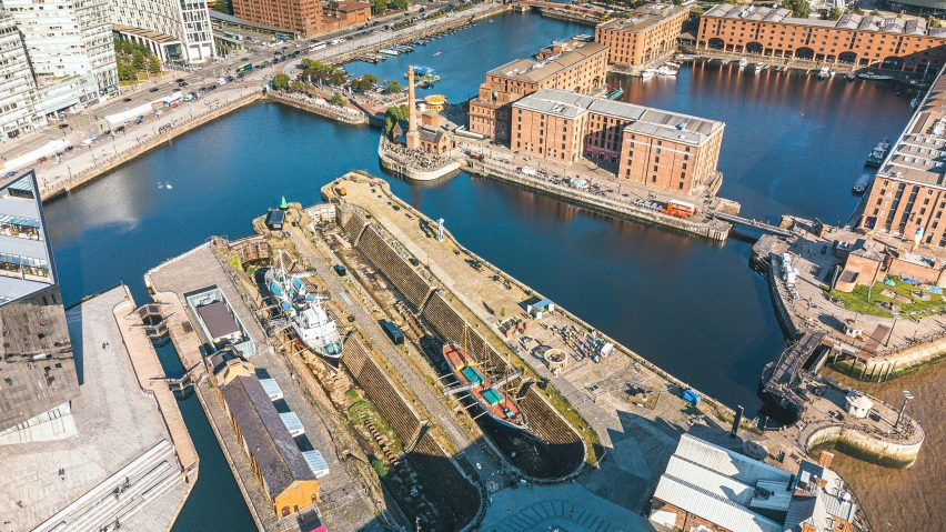 Dry docks in Canning Dock