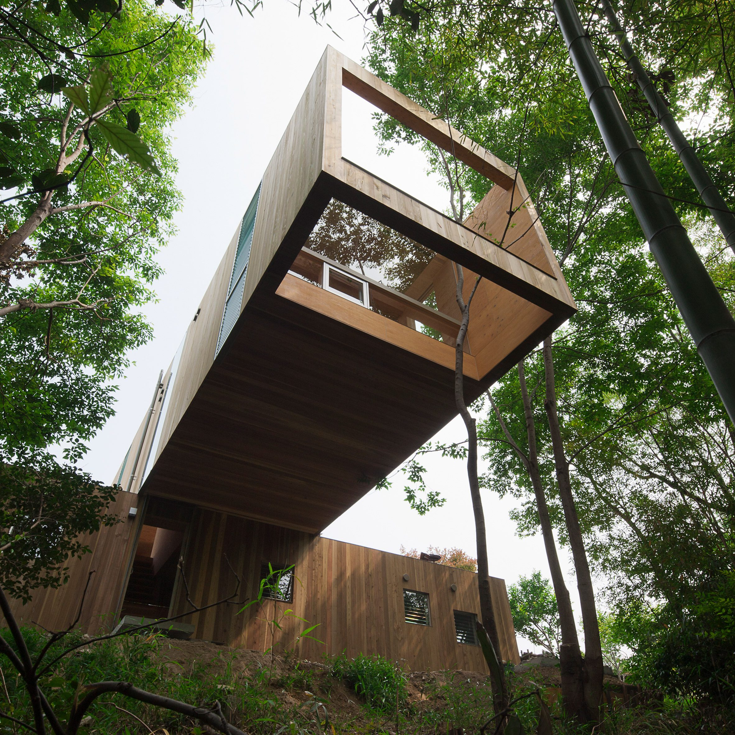 +node is a wooden house in Hiroshima Prefecture, Japan