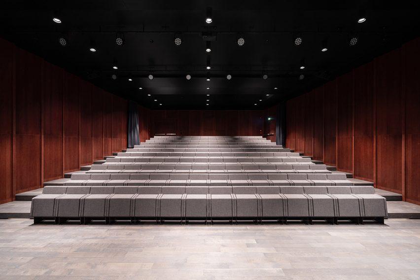 The auditorium at the music school
