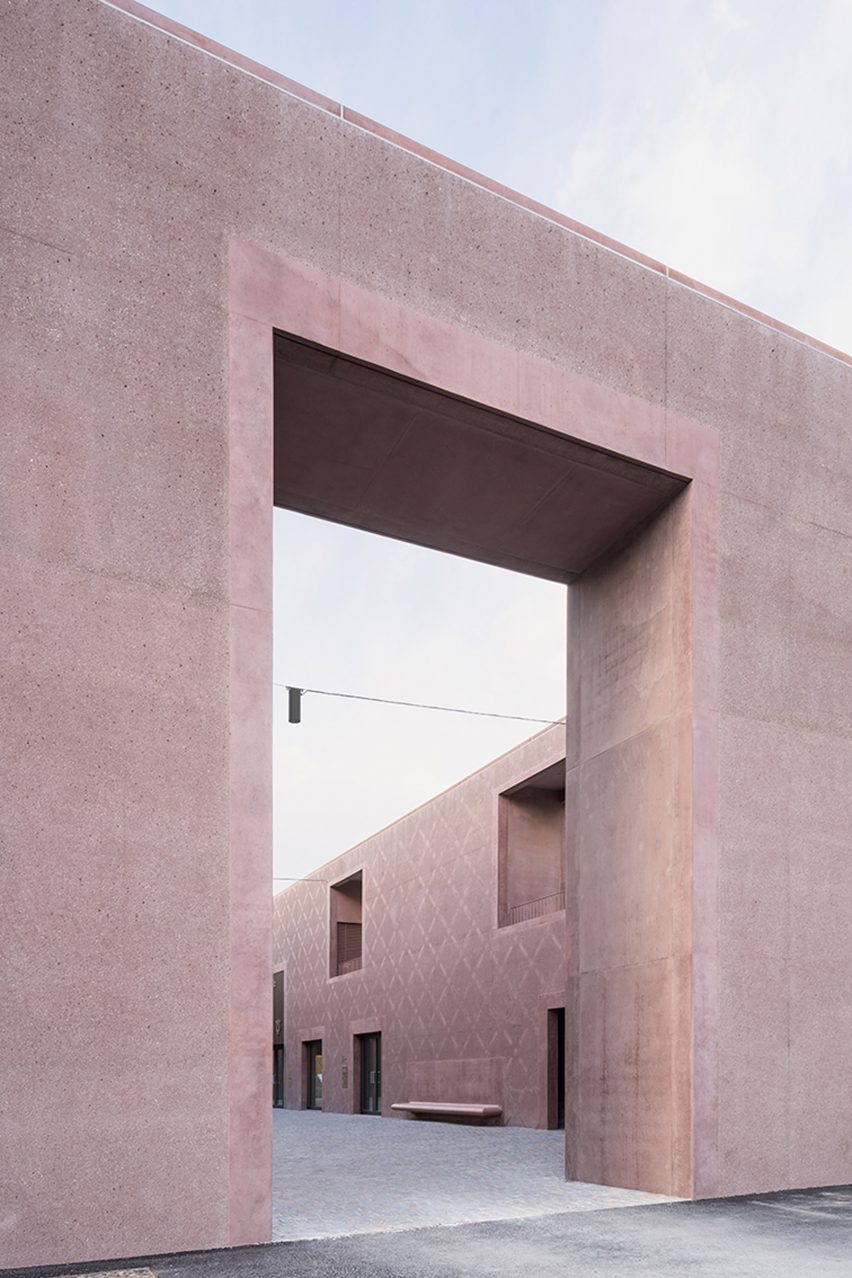 An archway into the Bressanone music school