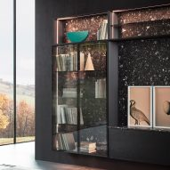 Cesar and Garcia Cumini create vertical wall unit informed by storage drawers