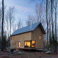 Cedar cottage outside Montreal by Ravi Handa maximises its compact footprint