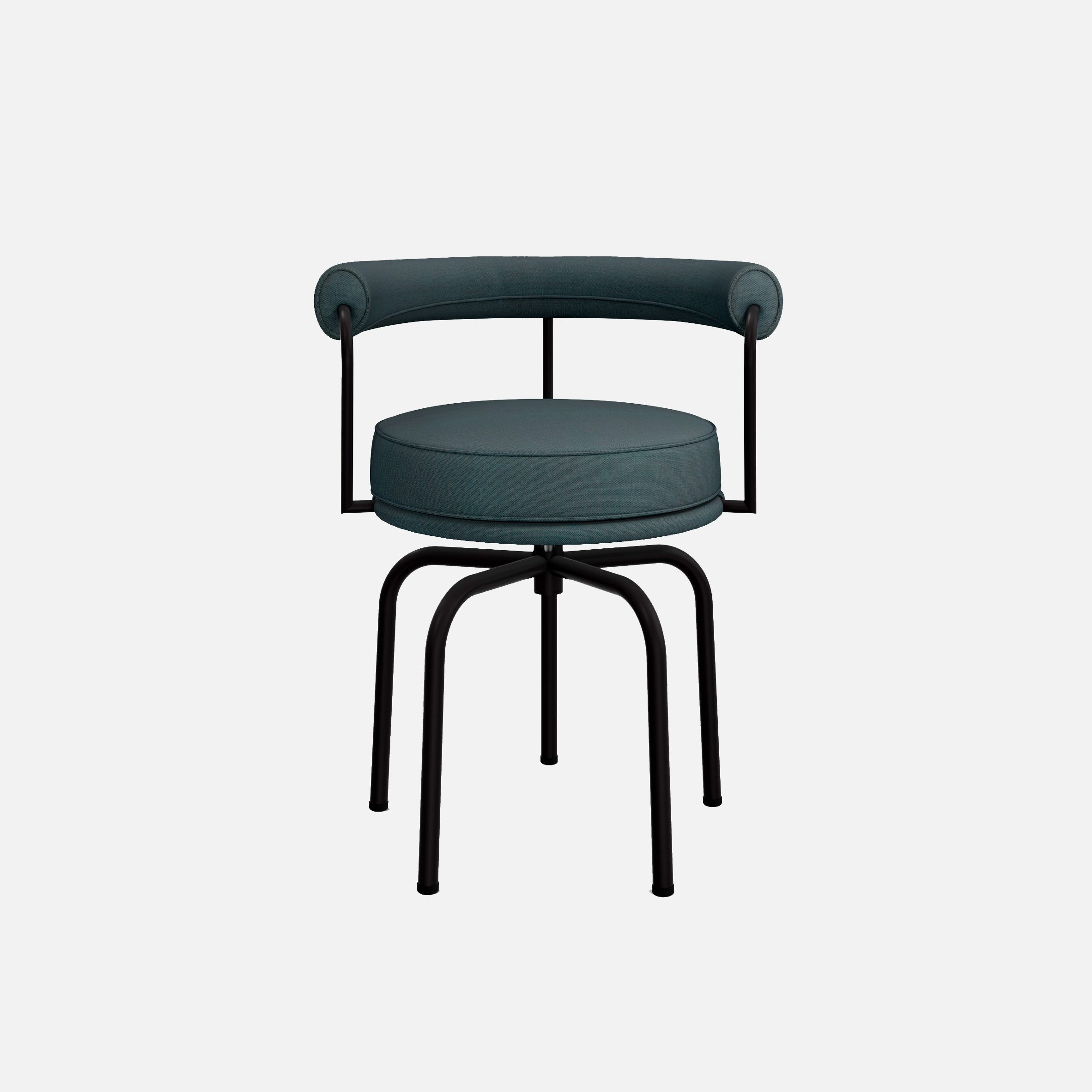 A photograph of a chair with legs made of tubular steel