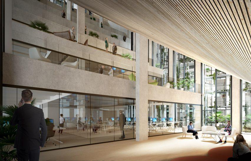 Interior of the CityWave office floors