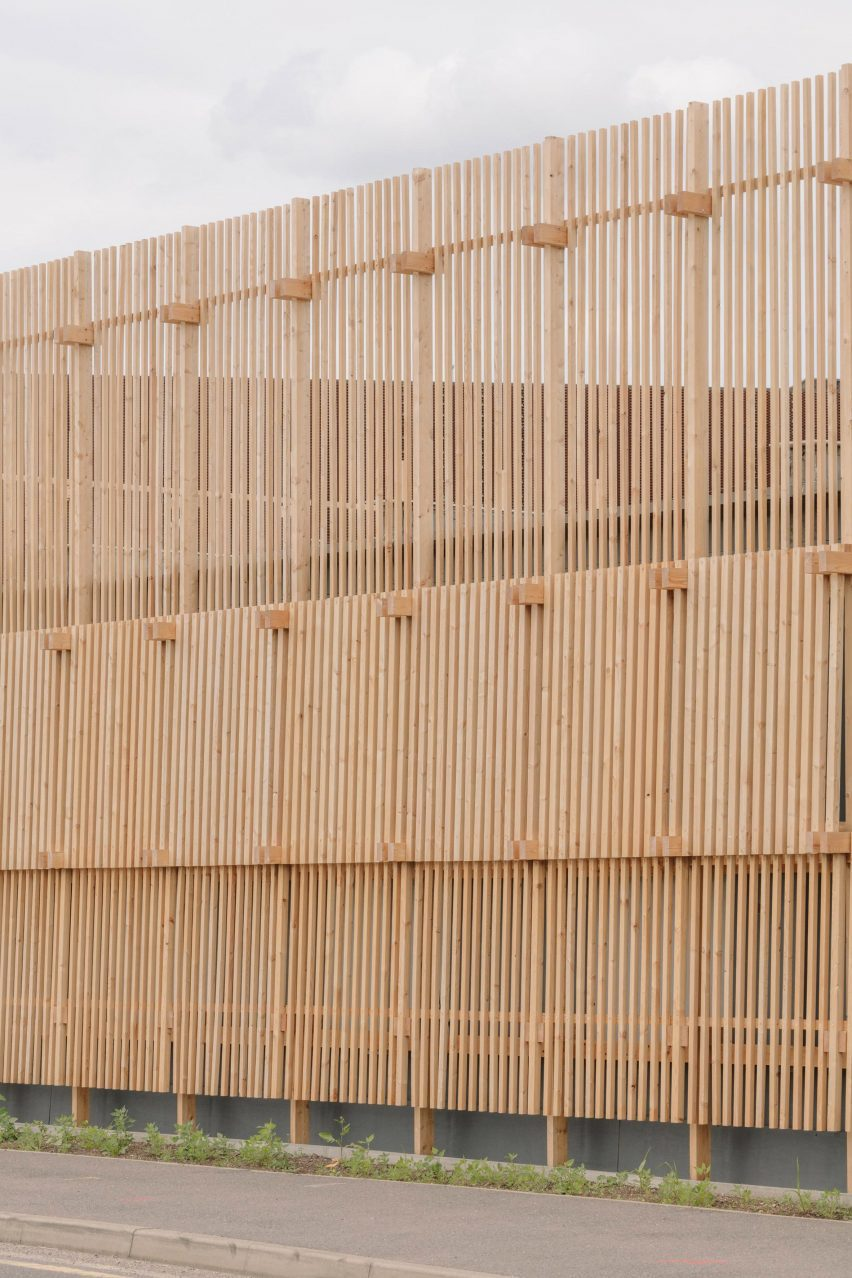 Wooden exterior of Construction Skills School by EBBA Architects
