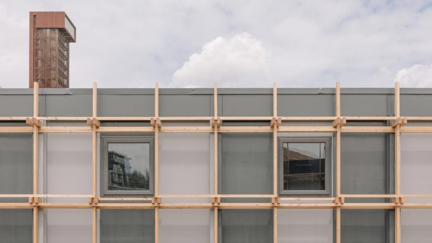 Facade of Construction Skills School by EBBA Architects