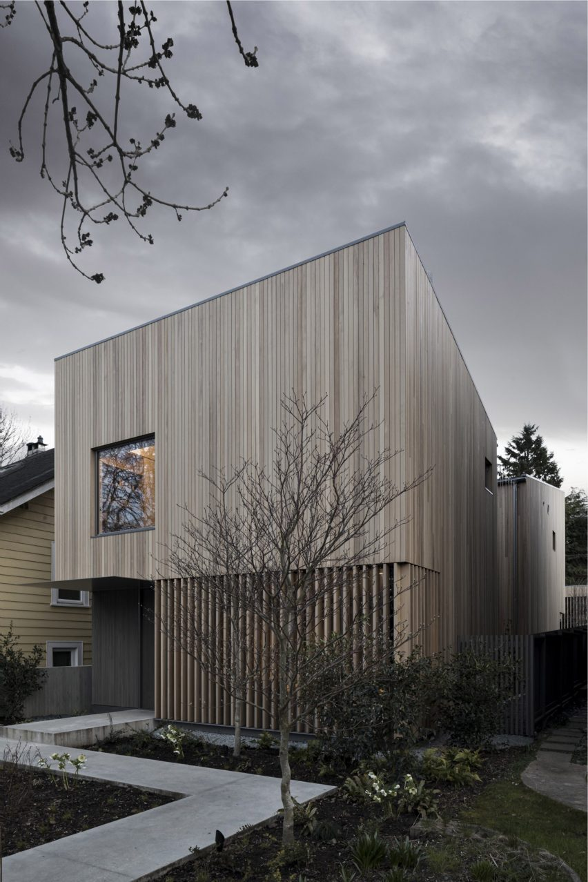 The boxy shaped Courtyard House in Vancouver