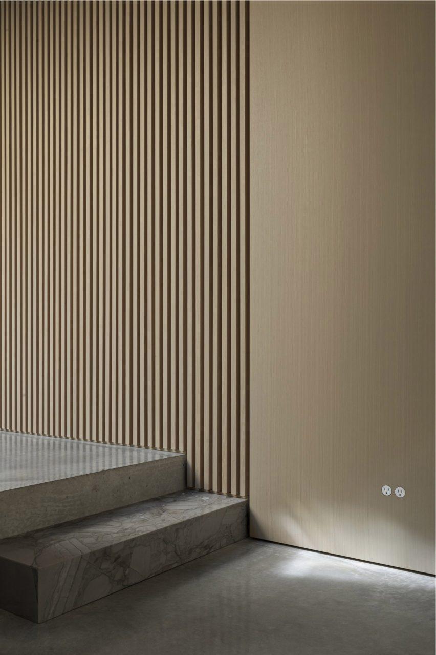 Grey steps inside Courtyard House