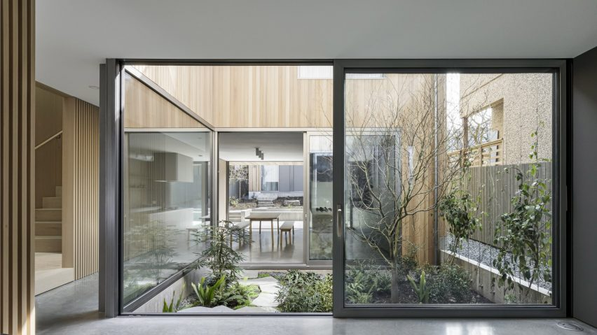 The interior of Courtyard House by Leckie Studio