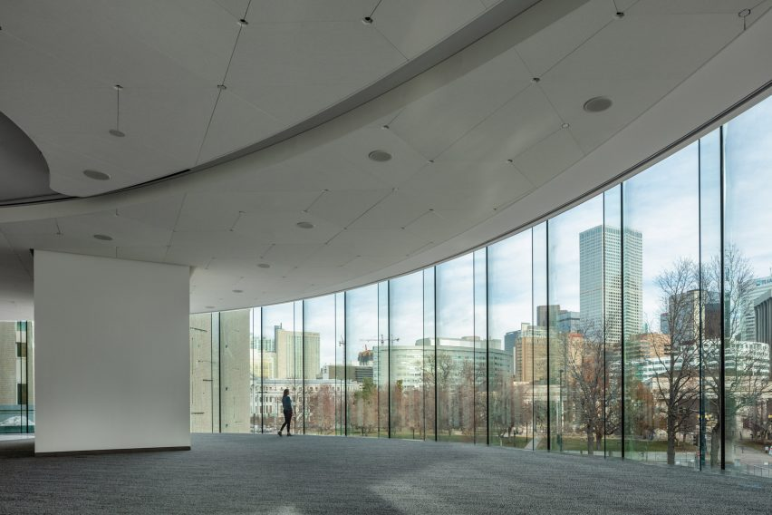 The visitor center of the art museum offers a breathtaking view