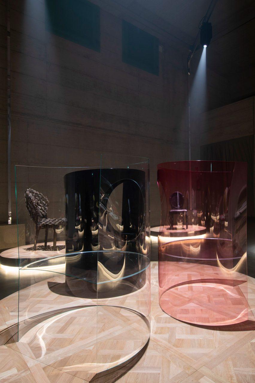 Nendo chair designs for Dior