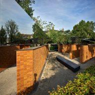 Brick walls of Dutch Holocaust Memorial of Names