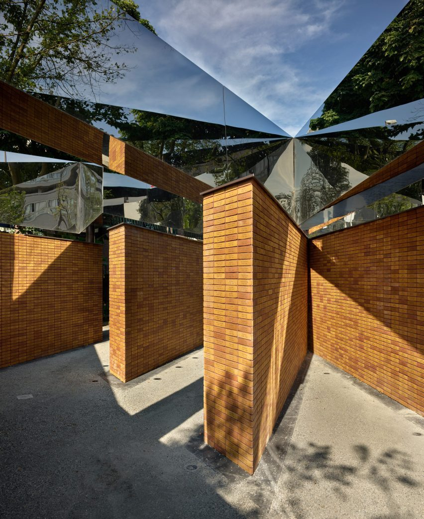 Brick and mirrored memorial by Studio Libeskind