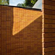 Bricks walls at the Dutch Holocaust Memorial of Names