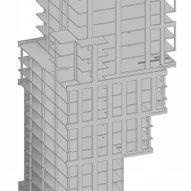 A plan of the facade details