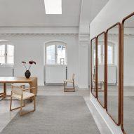Escape Kelim rug by Space Copenhagen for Massimo Copenhagen with contrast edge