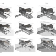 Plans detailing how light interacts with the boathouse