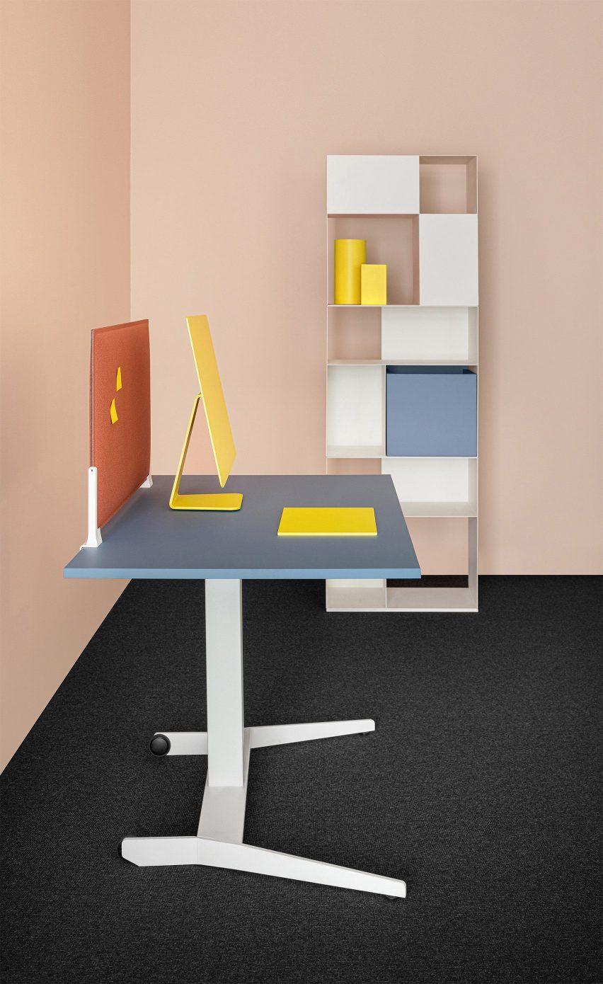 Adjustable Follow Me table by Mara
