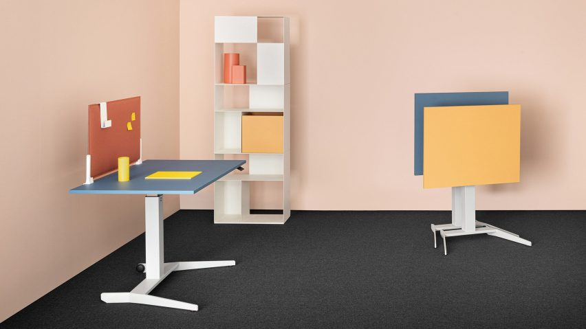 Adjustable Follow Me tables by Mara