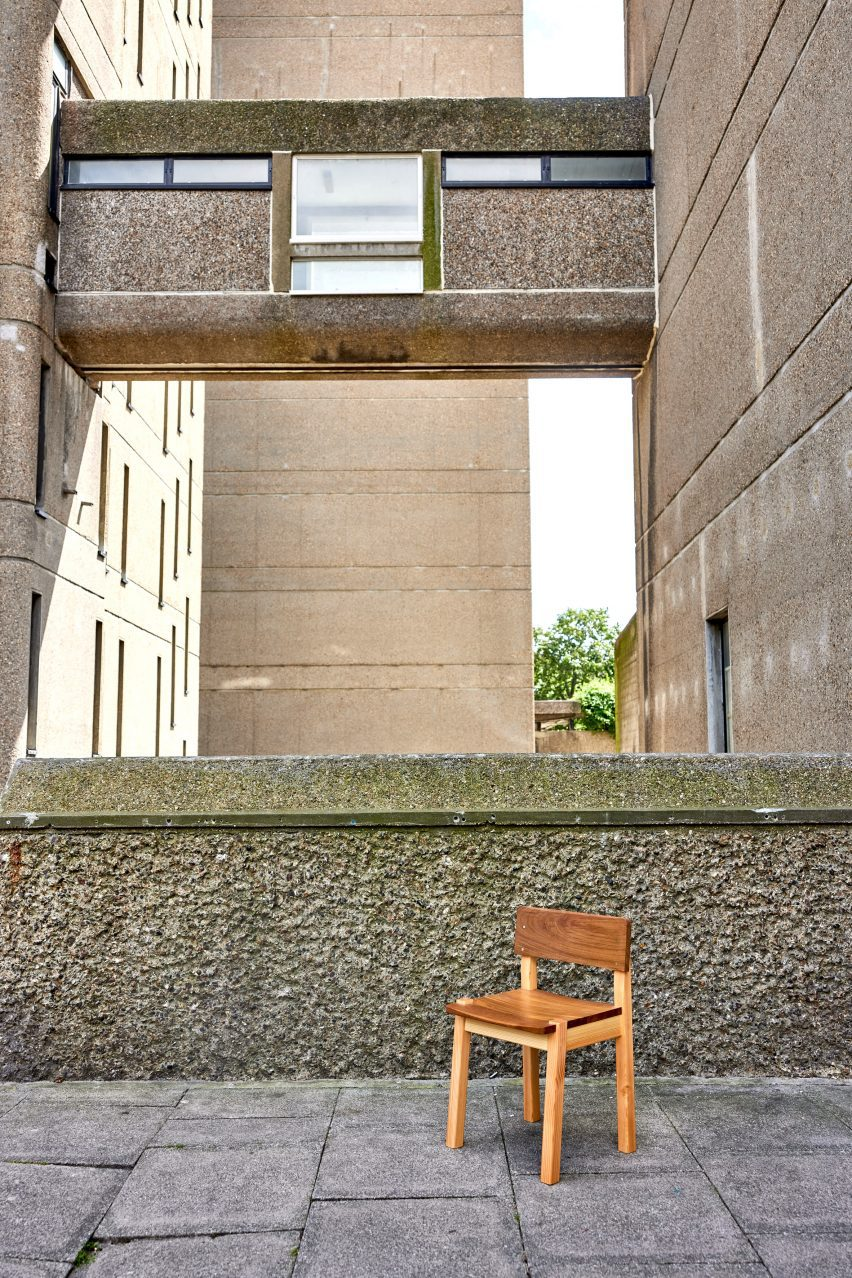 Chair from Ayrton Collection by Goldfinger, photographed at Trellick Tower