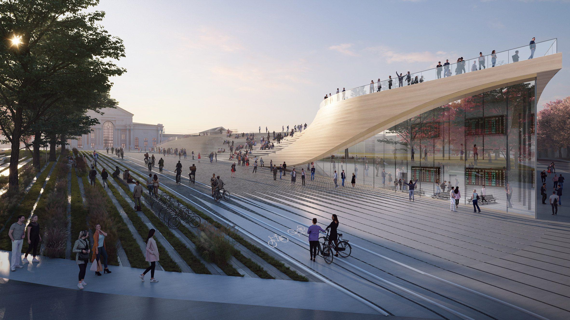 Деревянный автовокзал от Zaha Hadid Architects