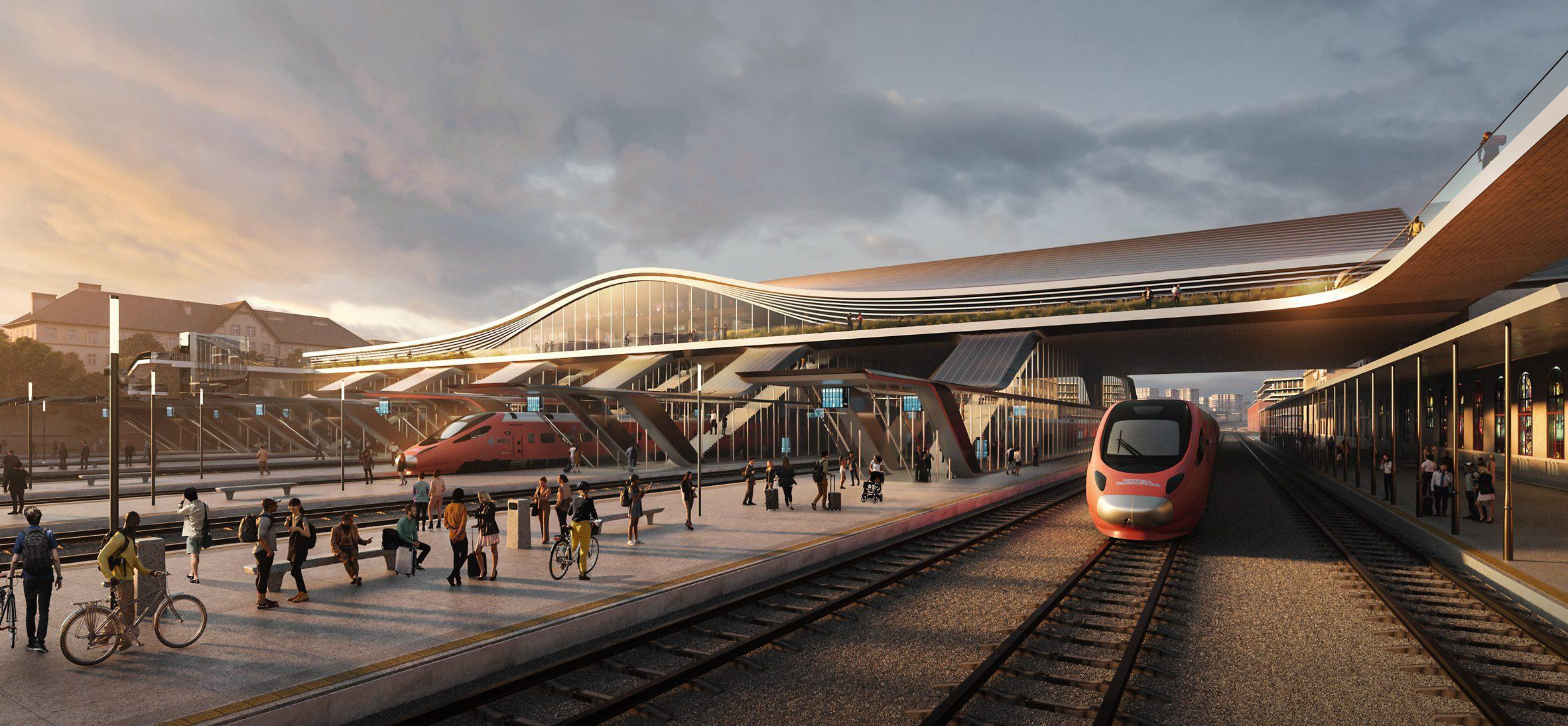 Предложение моста для железнодорожного вокзала Вильнюса