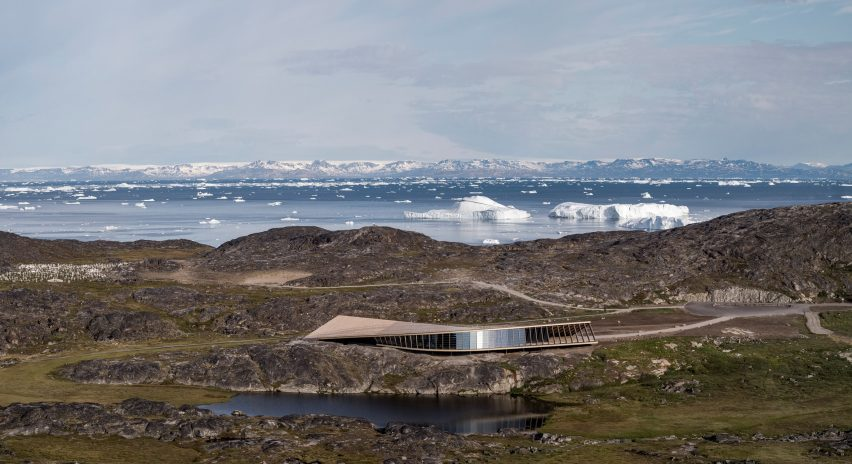 Side view of Ilulissat Icefjord Centre by Dorte Mandrup Arkitekter