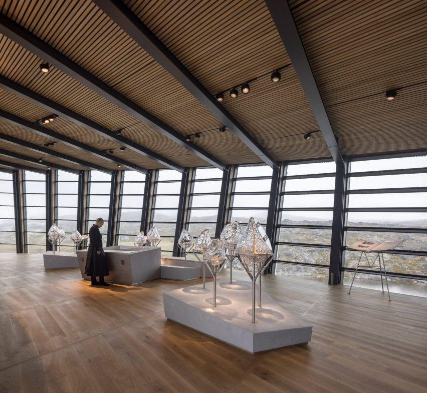 Exhibition gallery interior of Ilulissat Icefjord Centre by Dorte Mandrup Arkitekter
