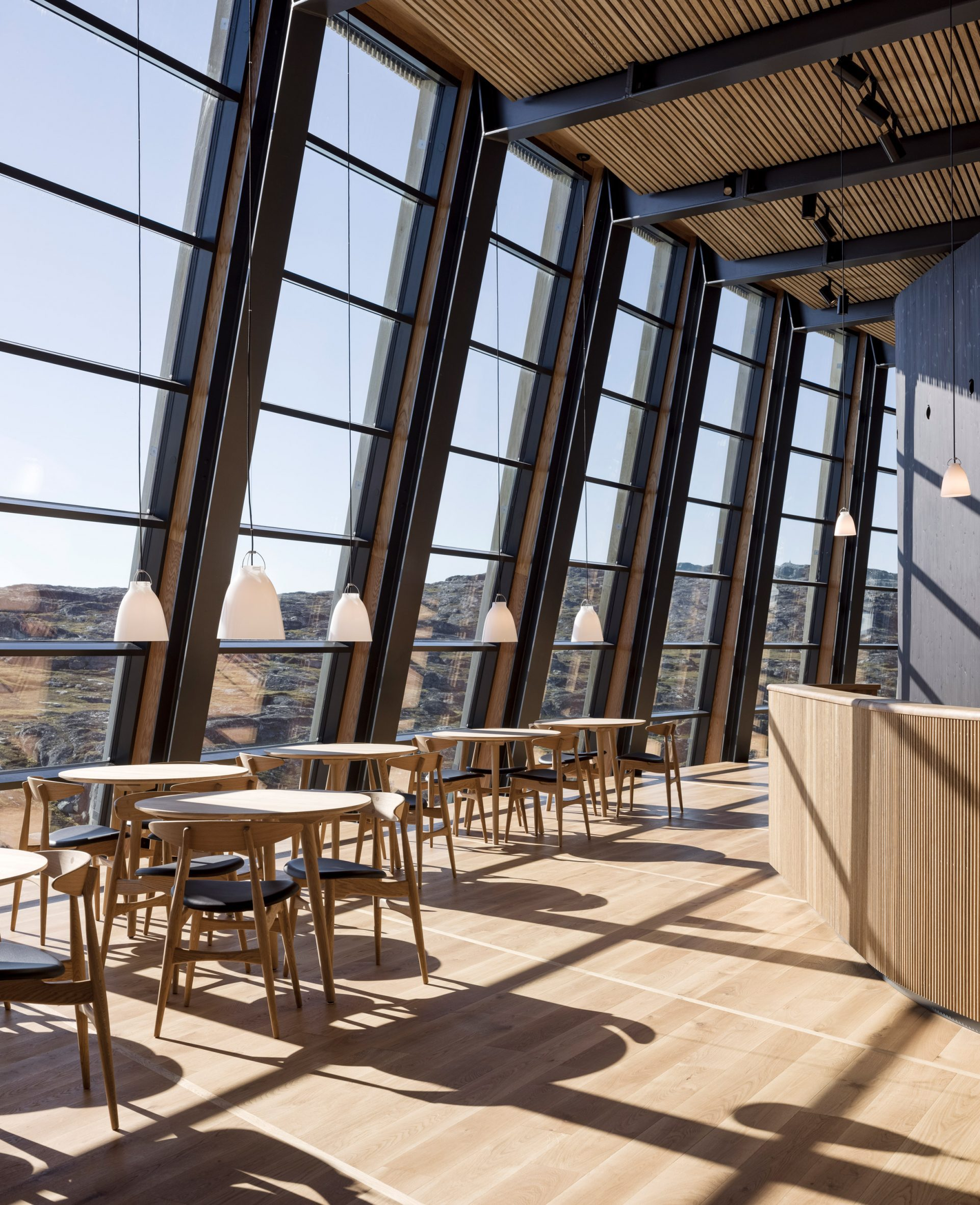 Cafe in Ilulissat Icefjord Centre by Dorte Mandrup Arkitekter