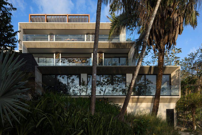 Glazed apartments face west