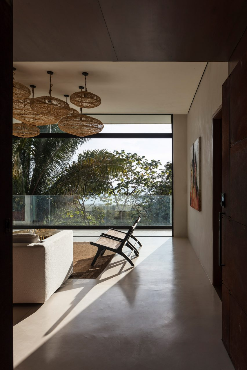 Apartment interior with minimal furnishings