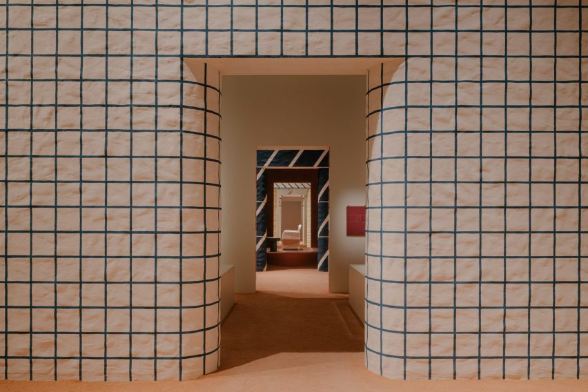 Hermes furniture inside a white doorway