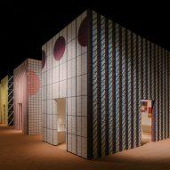 Hermès displays furniture in five boldly patterned houses