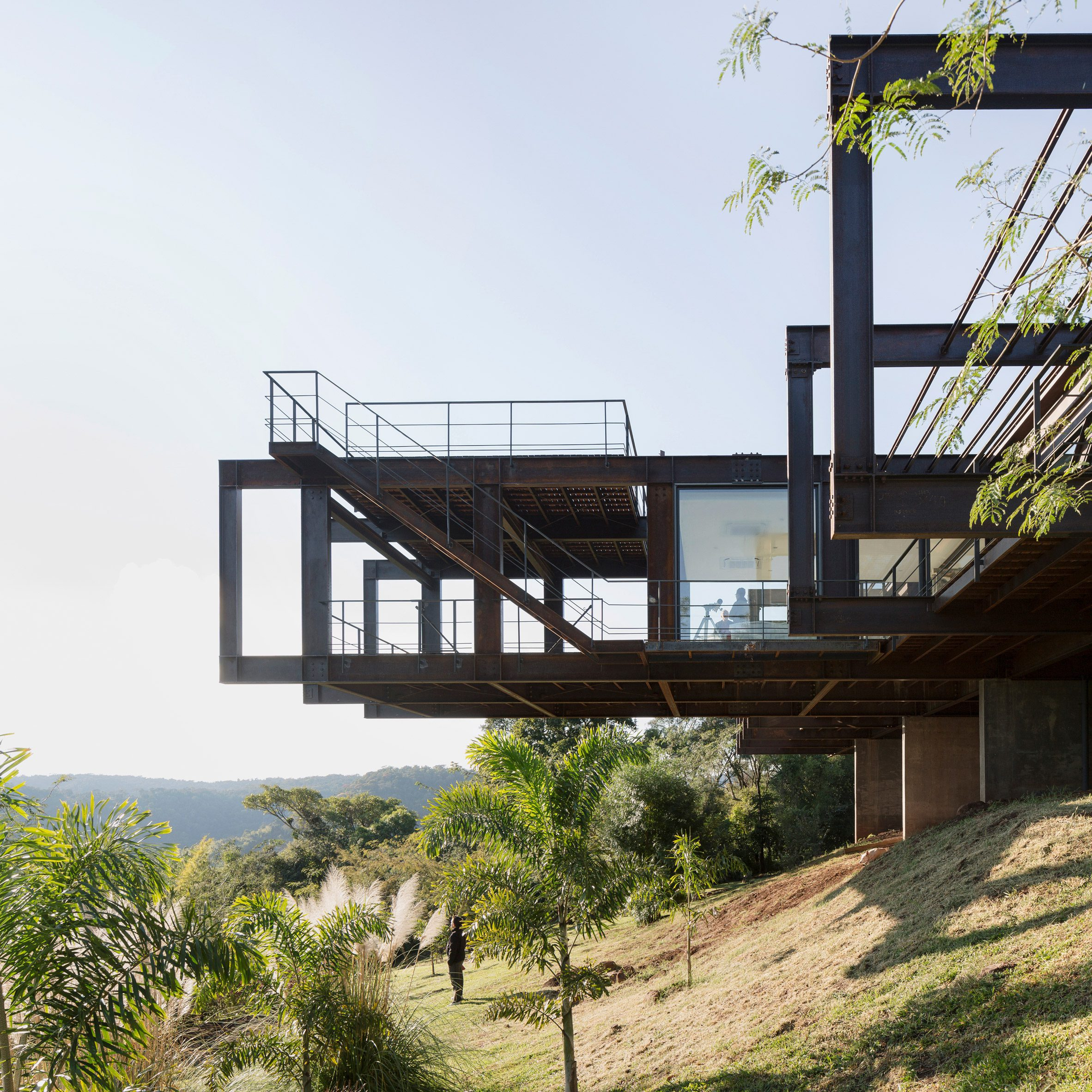 Steel house by Bauen was assembled in seven days on remote mountain site in Paraguay