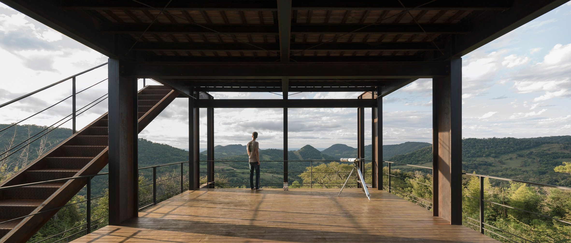 Steel-and-glass structure in Paraguay