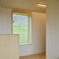 Wood-lined interiors