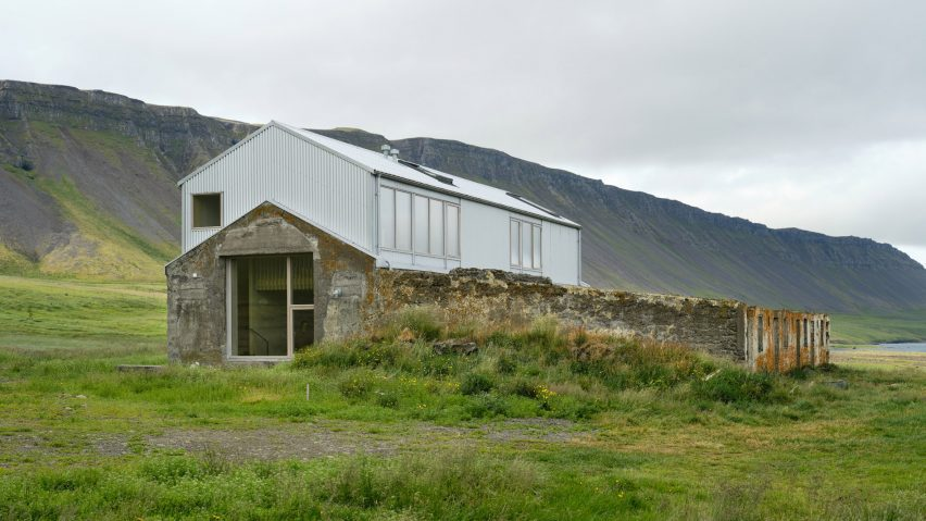 A converted farm building in Iceland
