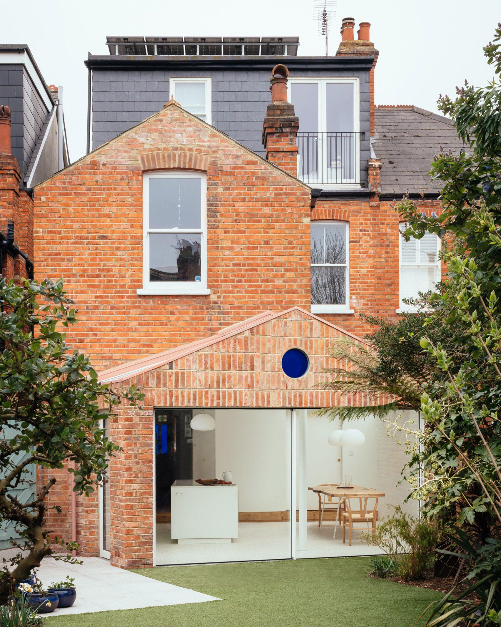 A brick London house extension