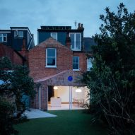 Brick-clad house extension in London