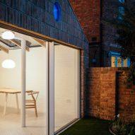 Brick-clad house extension